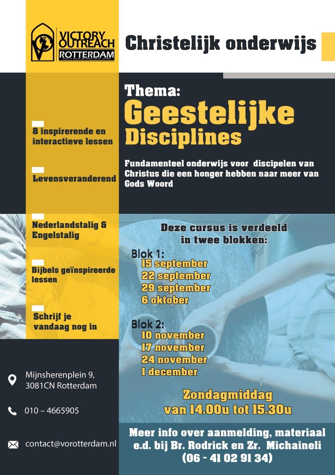 Kerkonderwijs - Geestelijke disciplines (Blok 2)